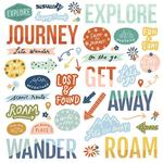 Safe Travels Foam Stickers - Simple Stories - PRE ORDER