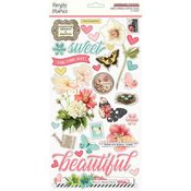 Simple Vintage Cottage Fields Chipboard Stickers - Simple Stories