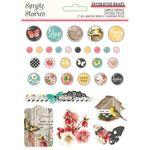 Simple Vintage Cottage Fields Decorative Brads - Simple Stories