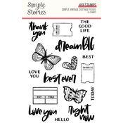 Simple Vintage Cottage Fields Stamp - Simple Stories