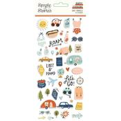 Safe Travels Puffy Stickers - Simple Stories