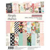 Simple Vintage Cottage Fields 6x8 Paper Pad - Simple Stories
