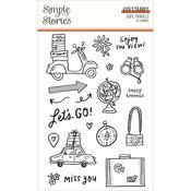 Safe Travels Photopolymer Clear Stamps - Simple Stories