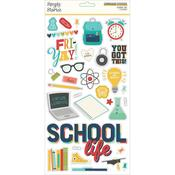 School Life Chipboard 6x12 Stickers - Simple Stories - PRE ORDER