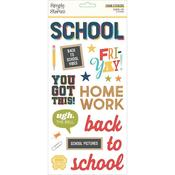 School Life Foam Stickers - Simple Stories - PRE ORDER