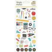 School Life Puffy Stickers - Simple Stories - PRE ORDER
