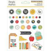 School Life Decorative Brads - Simple Stories - PRE ORDER