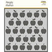 Apples 6x6 Stencil - School Life - Simple Stories - PRE ORDER