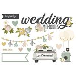 Wedding Memories Page Pieces - Happily Ever After - Simple Stories