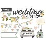 Wedding Memories Page Pieces - Happily Ever After - Simple Stories - PRE ORDER