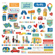 Time To Travel Element Stickers - Photoplay - PRE ORDER