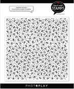 Dashes & Dots 6x6 Background Stamp - Photoplay