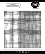 Ditsy Grid 6x6 Background Stamp - Photoplay