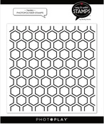 Hexies 6x6 Background Stamp - Photoplay