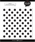 Big Dot 6x6 Background Stamp - Photoplay
