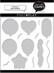 Balloons 6x6 Stencil - Photoplay