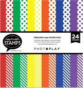 Primary Dots & Stripes 6x6 Pad - Photoplay