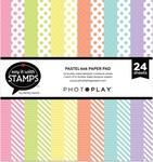 Pastel Dots & Stripes 6x6 Pad - Photoplay