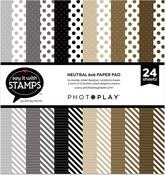 Neutral Dots & Stripes 6x6 Pad - Photoplay