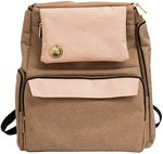 Taupe and Pink Crafter's Backpack - We R Memory Keepers