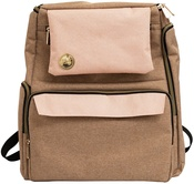 Taupe and Pink Crafter's Backpack - We R Memory Keepers - PRE ORDER