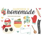 Happiness is Homemade Page Pieces - Simple Stories - PRE ORDER