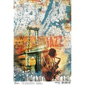 Jazz A4 Rice Paper - Blue Note - Ciao Bella