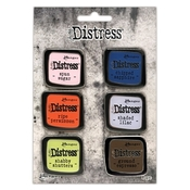 Set 6 - Tim Holtz Distress Enamel Collector Pins