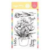 Crocus Clear Stamp - Waffle Flower