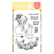 Hopeful Girl Clear Stamp - Waffle Flower