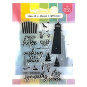 Lighthouse Stencil-n-Stamp - Waffle Flower