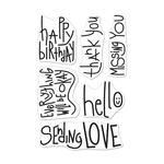 Handwritten Messages 4x6 Clear Stamps - Hero Arts