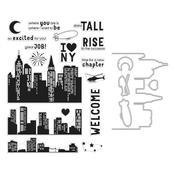 City Heroscape Clear Stamp & Die Combo - Hero Arts - PRE ORDER