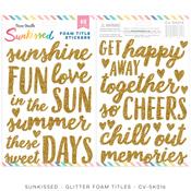 Sunkissed Glitter Foam Title Stickers - Cocoa Vanilla Studio