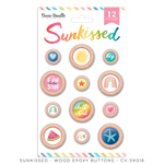 Sunkissed Wood Epoxy Buttons - Cocoa Vanilla Studio