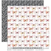 Gossamer Paper - More Than Words - Cocoa Vanilla Studio