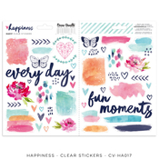 Happiness Clear Stickers - Cocoa Vanilla Studio