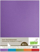 Brights 8.5x11 Textured Dot Cardstock Pack - Lawn Fawn