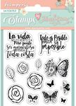 Roses & Butterfly Stamps - Circle Of Love - Stamperia