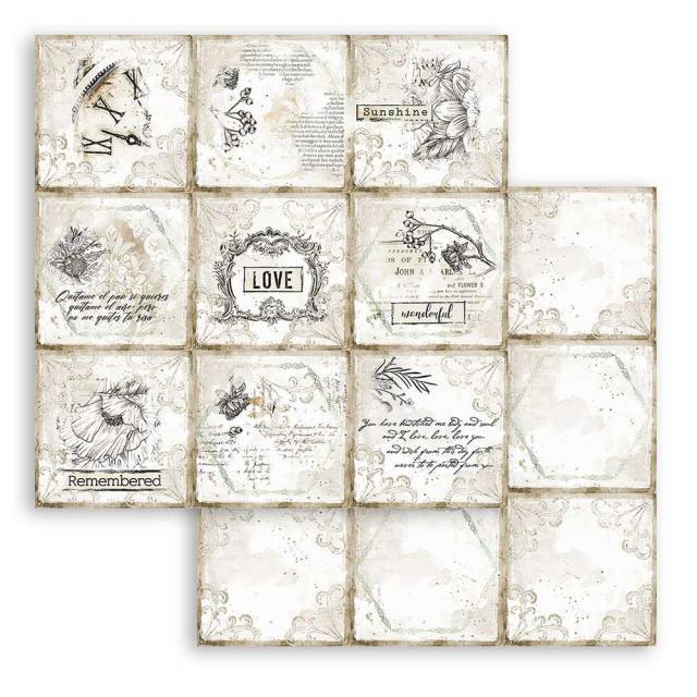 Cards Paper - Stamperia - Stamperia Intl - Romantic Journal