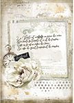 Manuscript & Clock Rice Paper - Romantic Journal - Stamperia