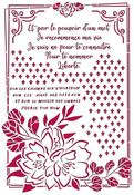 Flower With Frame Stencil - Romantic Journal - Stamperia