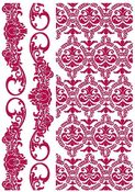 Border & Texture Stencil - Romantic Journal - Stamperia
