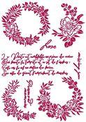 Garlands Love Stencil - Romantic Journal - Stamperia