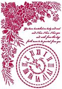 Clock Stencil - Romantic Journal - Stamperia