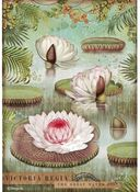 Water Lily A4 Rice Paper - Amazonia - Stamperia