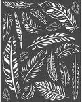 Feathers Stencil - Amazonia - Stamperia