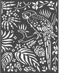 Parrot Stencil - Amazonia - Stamperia