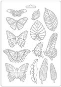 Leaves & Butterflies A4 Mold - Amazonia - Stamperia