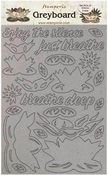 Water Lily Greyboard Cut Outs - Amazonia - Stamperia